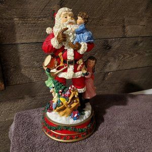 SANTA CLAUS With Kids  Wind Up Music Box